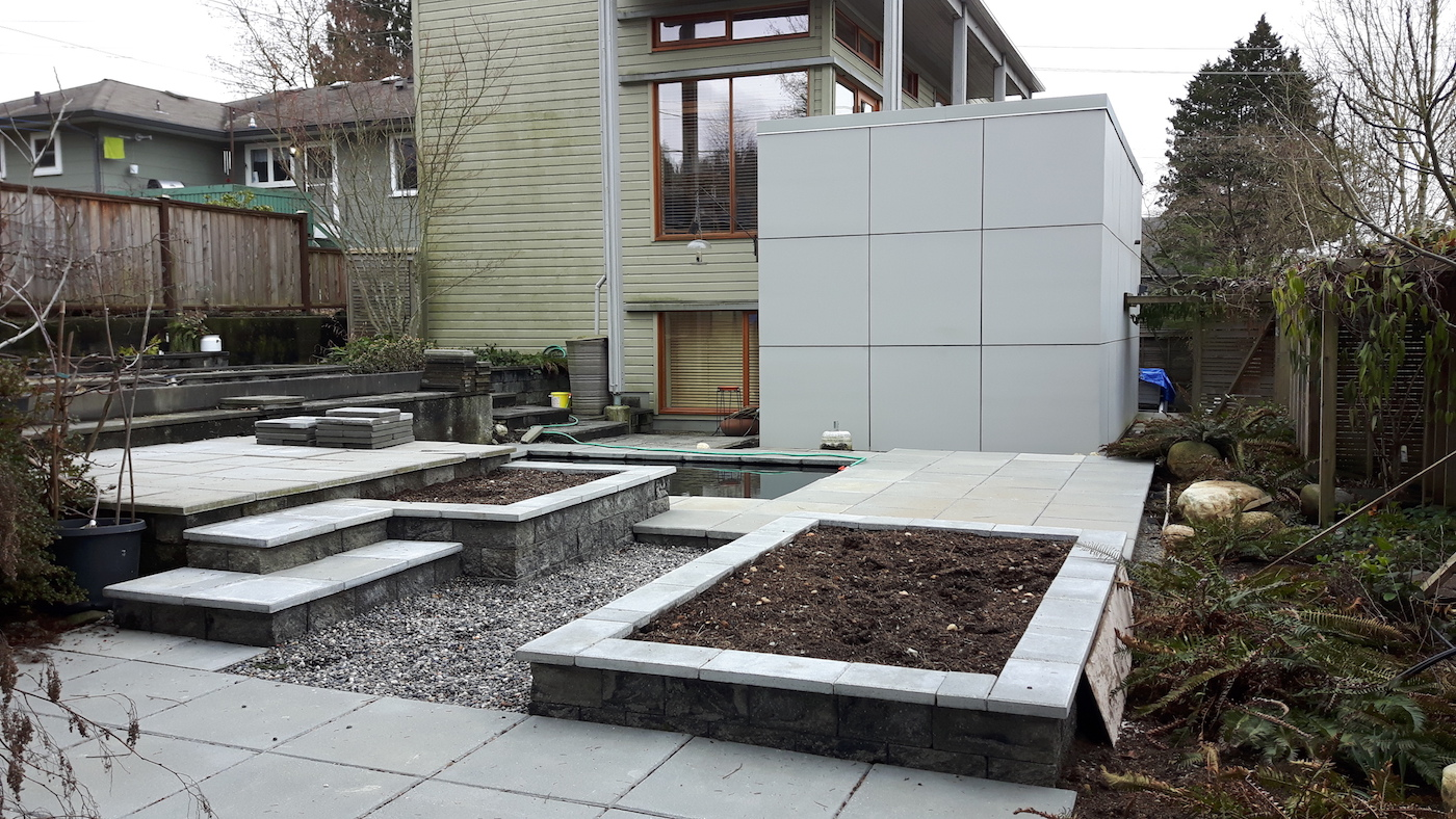 Pond and Planters